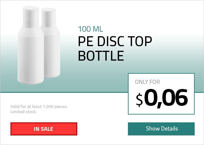 100 ML PE Disc-Top Şişe