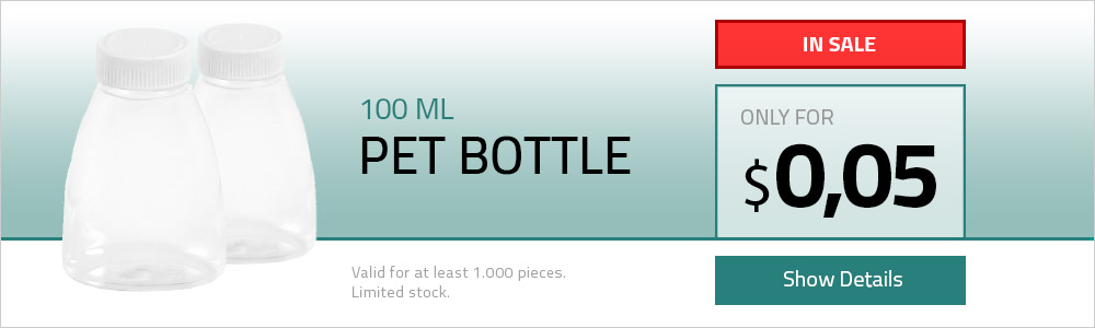 100 ML Pet Tıpalı Şişe